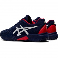Asics Gel Resolution 8 Clay GS peacoat/rot Tennisschuhe Kinder