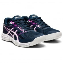 Asics Upcourt 4 2021 dunkelblau/grape Hallen-Sportschuhe Kinder