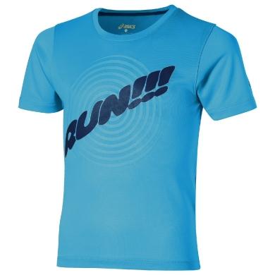 Asics Tshirt Run 2016 blau Boys