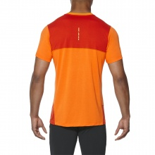 Asics Tshirt FuzeX Stripe 2017 orange Herren