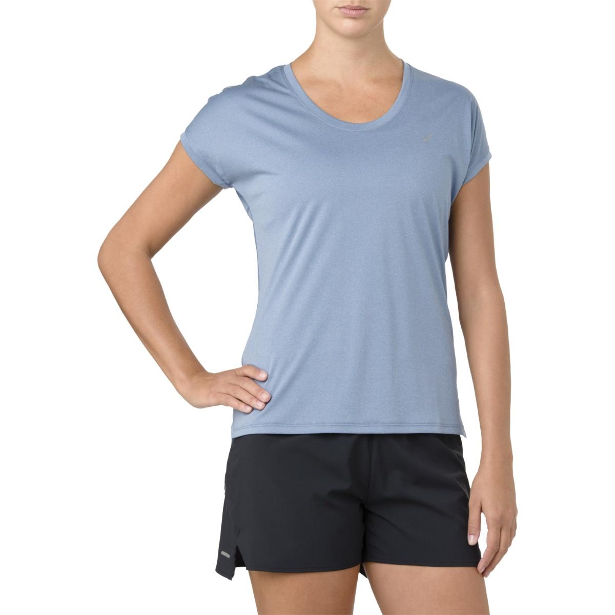 Asics Shirt Capsleeve 2018 blau Damen versandkostenfrei
