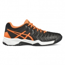 Asics Gel Resolution 7 2017 schwarz/orange Tennisschuhe Kinder