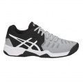 Asics Gel Resolution 7 Clay 2018 grau/schwarz Tennisschuhe Kinder