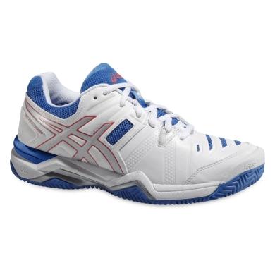 Asics Gel Challenger 10 Clay weiss/blau Tennisschuhe Damen