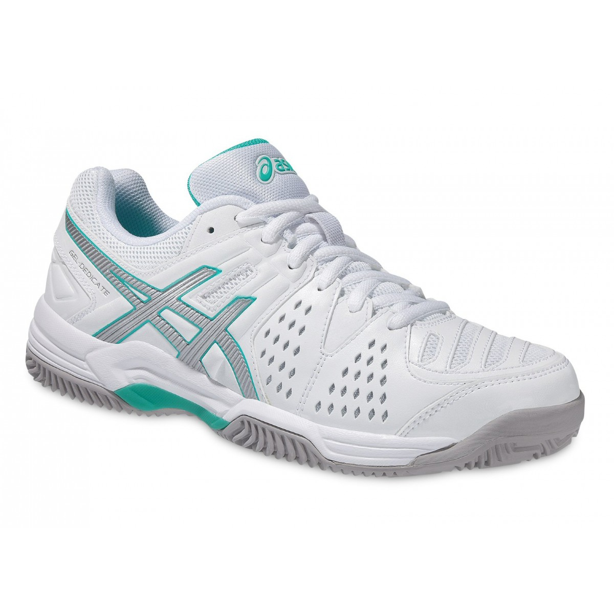 asics gel dedicate 4 clay weiss mint tennisschuhe damen versandkostenfrei online bestellen. Black Bedroom Furniture Sets. Home Design Ideas