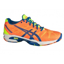 Asics Gel Solution Speed 2 Clay 2015 flashorange Tennisschuhe Herren (46+46,5)
