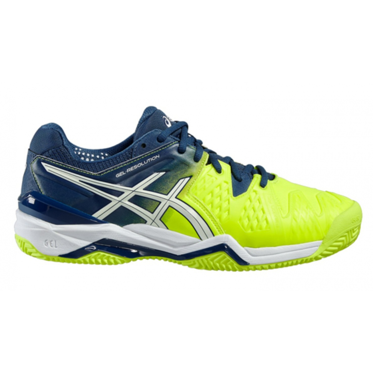 Asics Gel Resolution 6 Clay 2016 gelb/blau Tennisschuhe Herren