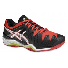 Asics Gel Resolution 6 Clay schwarz/orange Sandplatz-Tennisschuhe Herren