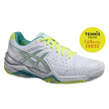 Asics Gel Resolution 6 weiss/mint Tennisschuhe Damen