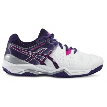 Asics Gel Resolution 6 Clay 2016 weiss Tennisschuhe Damen