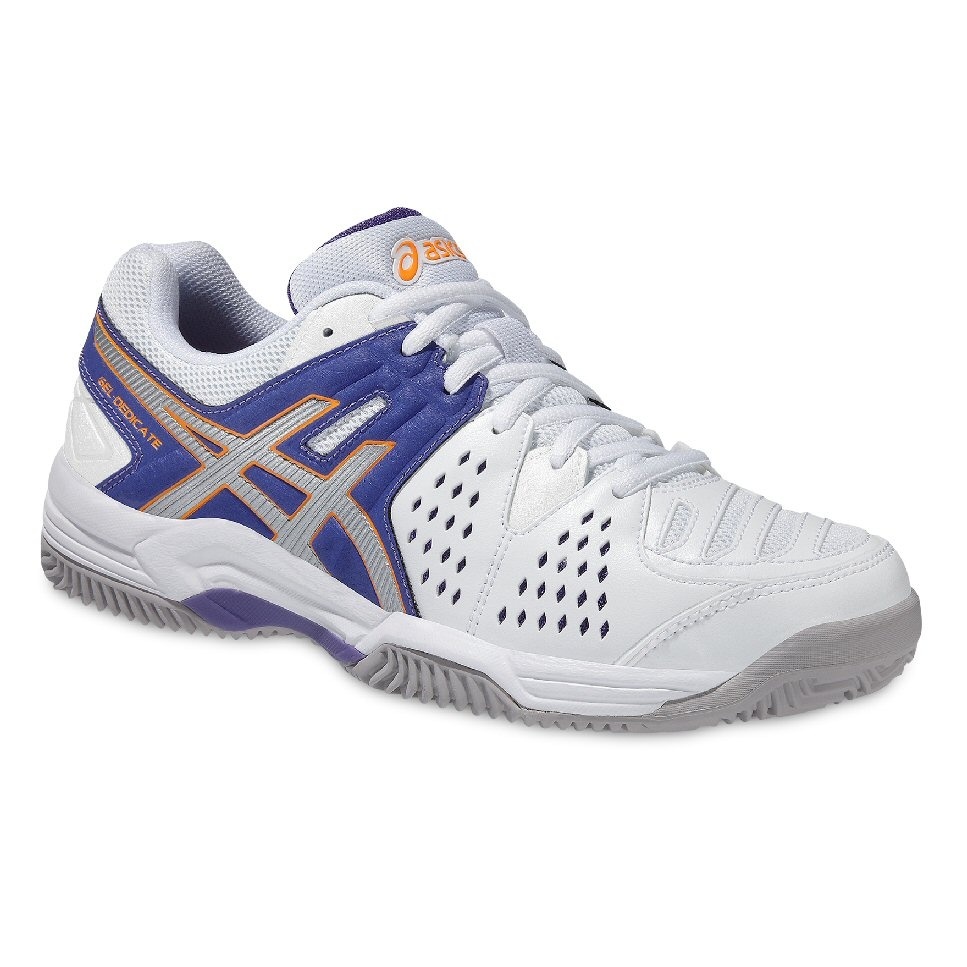asics gel dedicate 4 clay weiss lavender tennisschuhe damen online bestellen. Black Bedroom Furniture Sets. Home Design Ideas