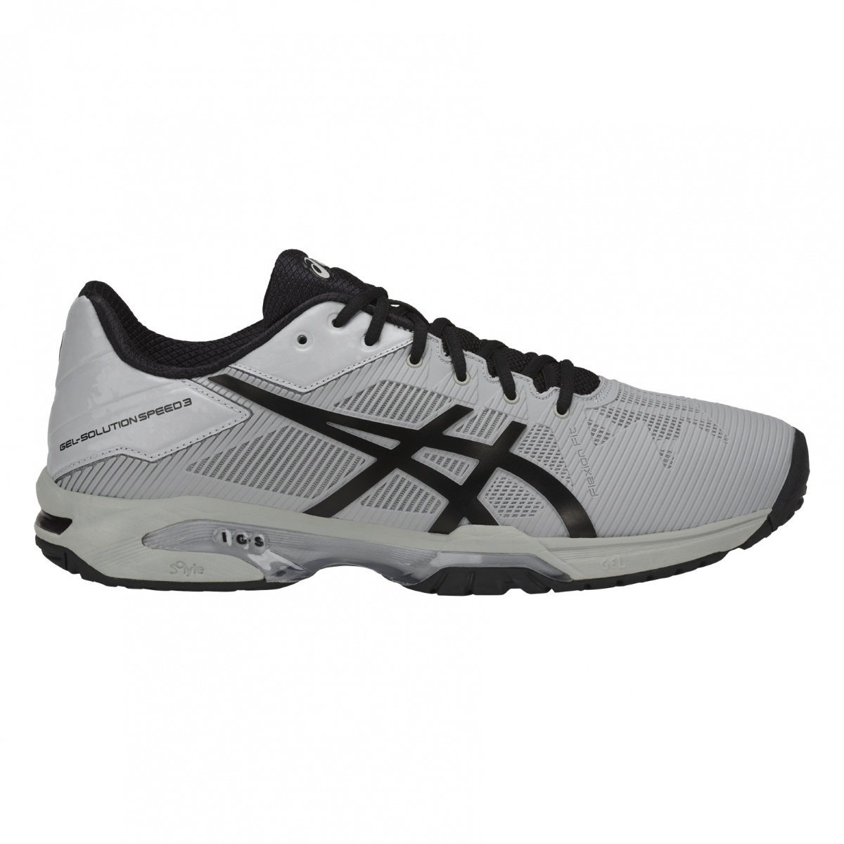Asics Gel Solution Speed 3 Allcourt 2018 grau Tennisschuhe Herren ...