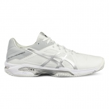 Asics Gel Solution Speed 3 Clay weiss/silber Tennisschuhe Herren