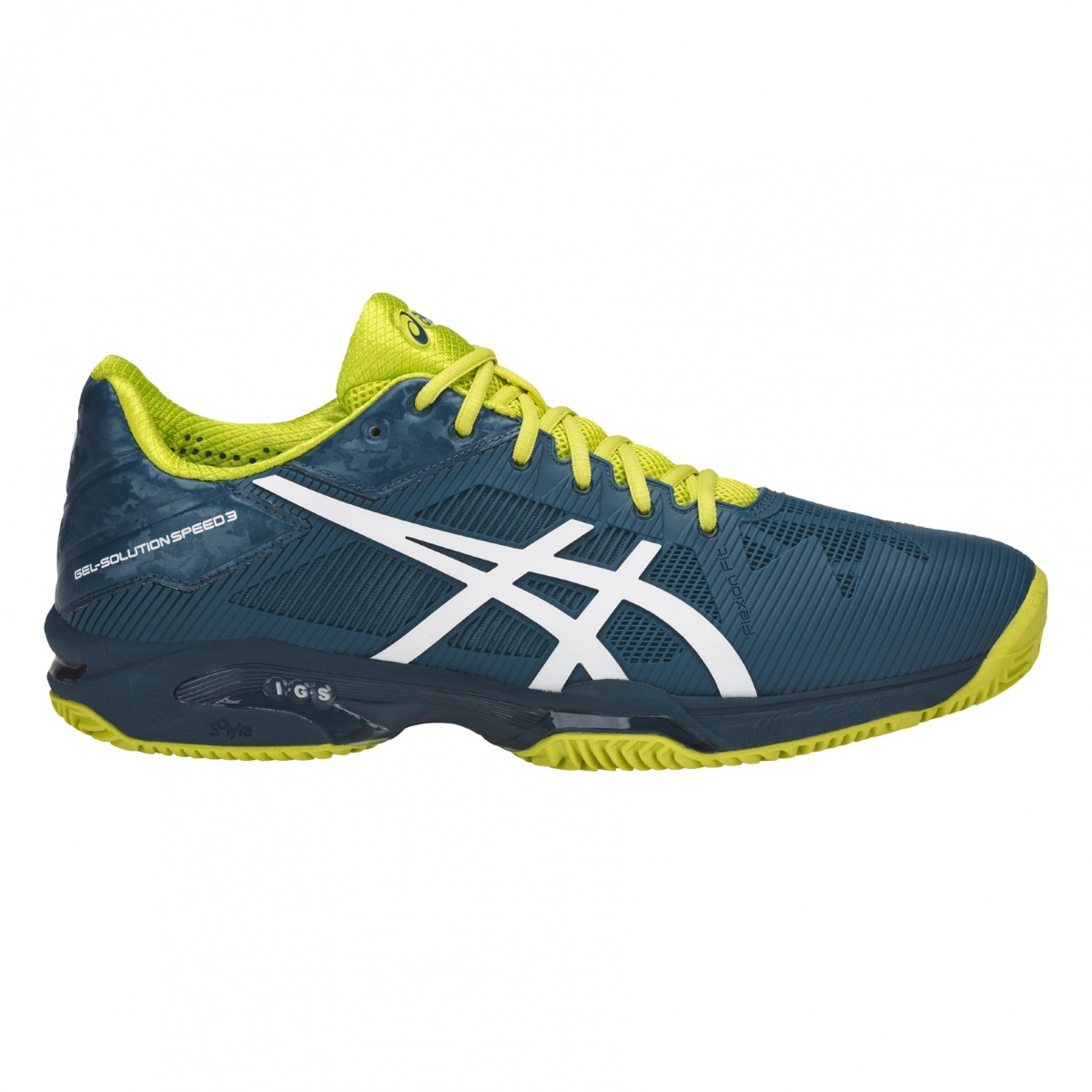 Asics Gel Solution Speed 3 Clay 2018 petrol Tennisschuhe Herren ...