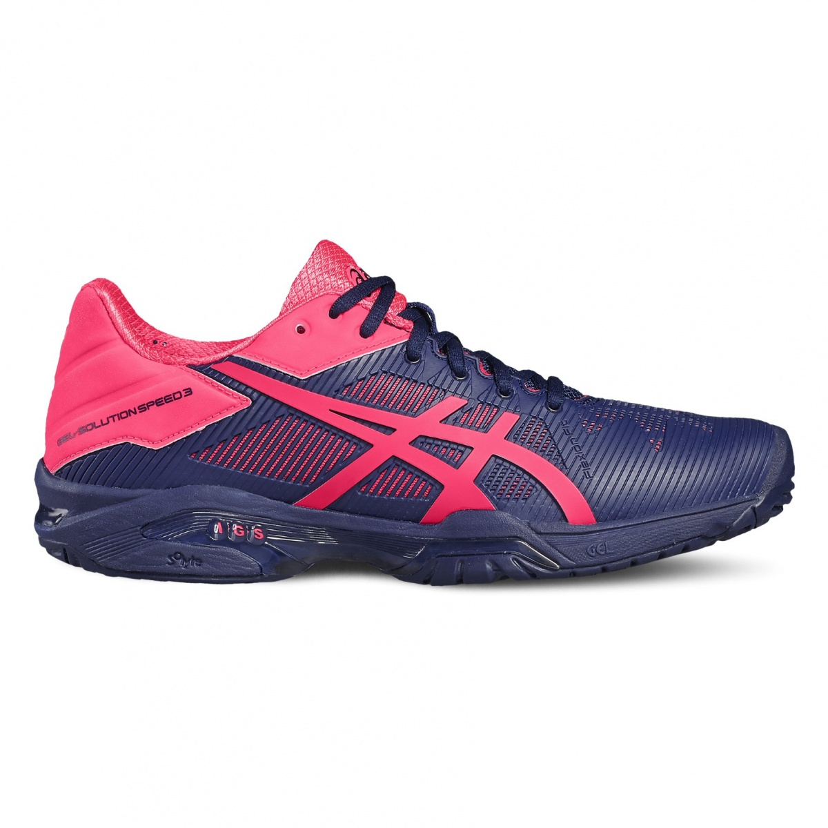 asics gel solution speed 3 allcourt 2017 indigo pink tennisschuhe damen online bestellen. Black Bedroom Furniture Sets. Home Design Ideas
