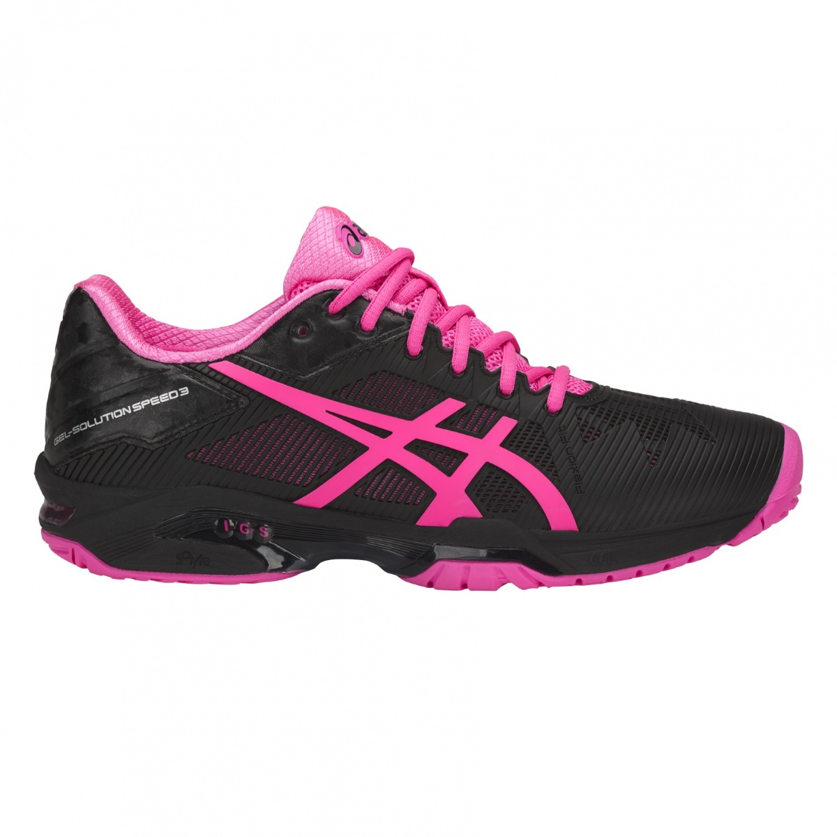Asics Gel Solution Speed 3 Allcourt 2018 schwarz/pink Tennisschuhe ...