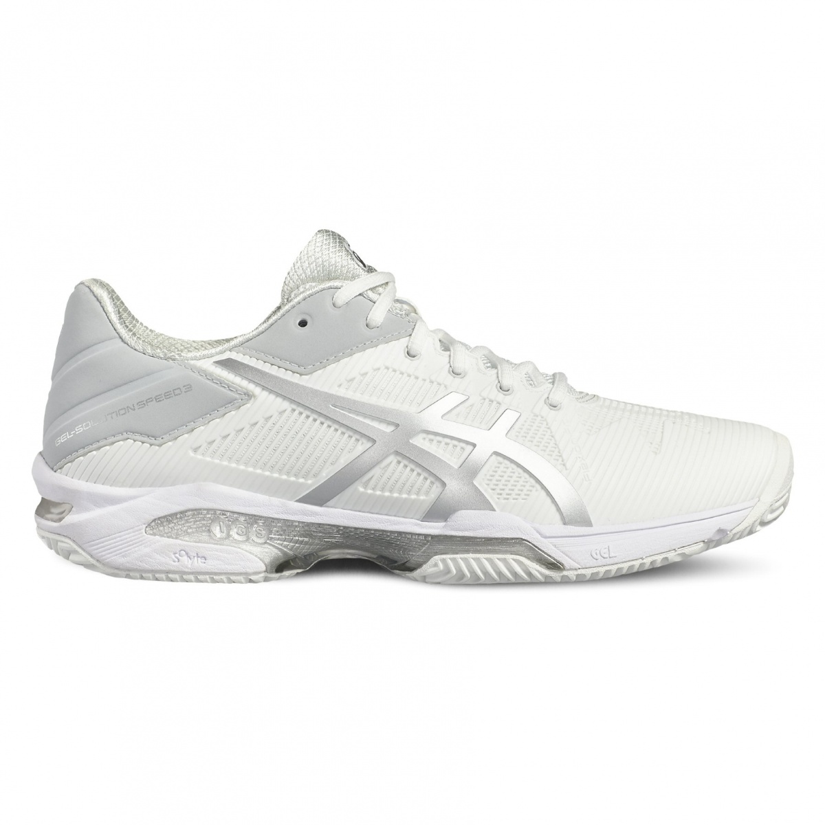 Asics Gel Solution Speed 3 Clay 2017 weiss/silber Tennisschuhe Damen ...