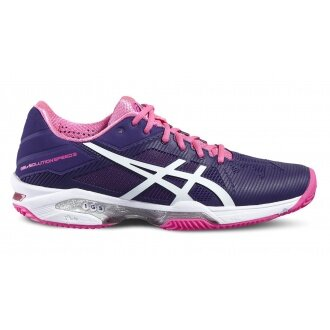 Asics Gel Solution Speed 3 Clay 2016 violett Tennisschuhe Damen