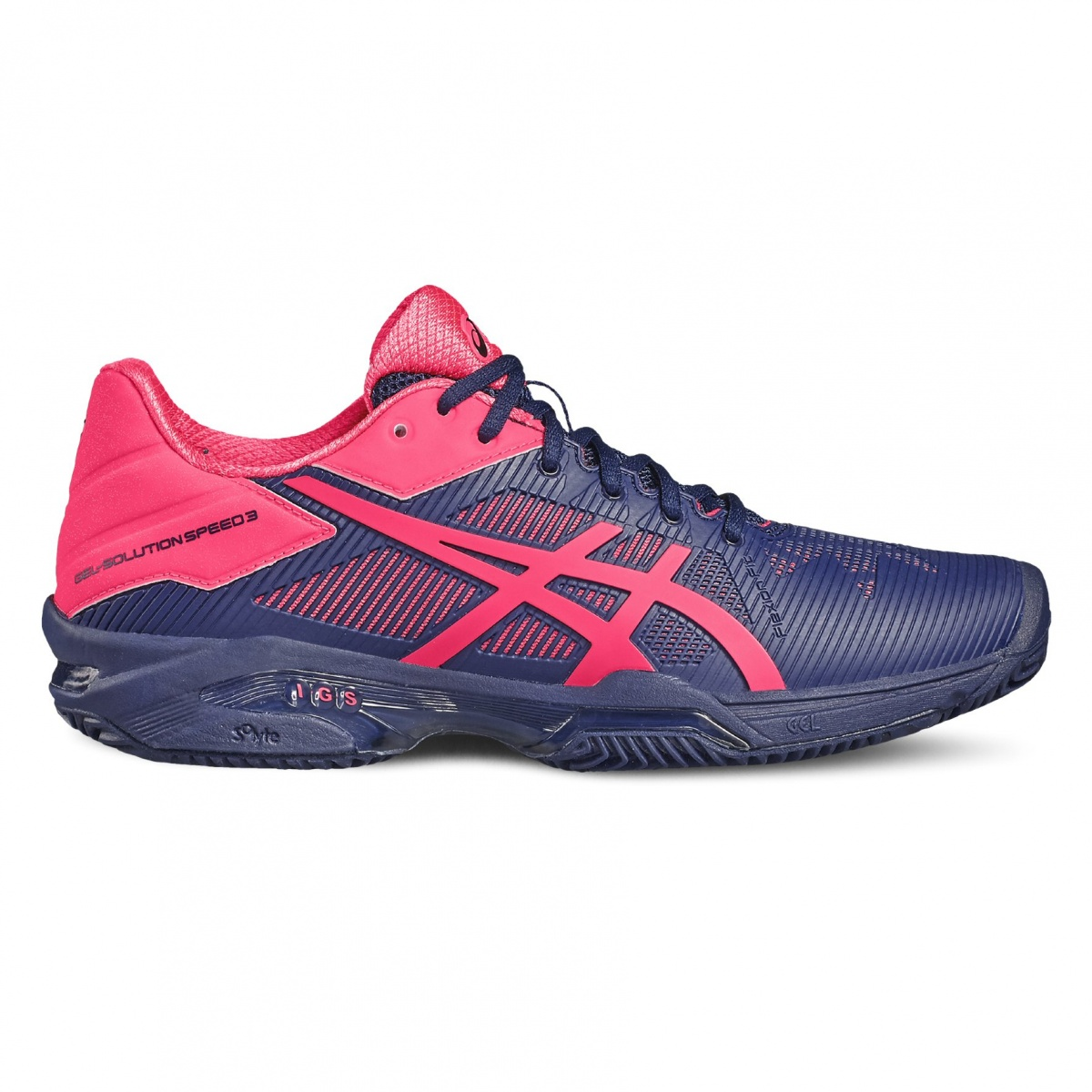 Asics Gel Solution Speed 3 Clay 2017 indigo/pink Tennisschuhe Damen ...