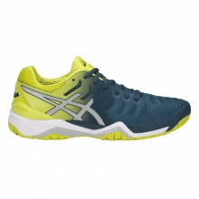 Asics Gel Resolution 7 2018 blau/gelb Tennisschuhe Herren