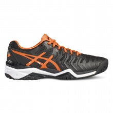 Asics Gel Resolution 7 2017 schwarz/orange Tennisschuhe Herren