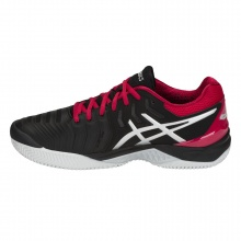 Asics Gel Resolution 7 Clay schwarz/rot Tennisschuhe Herren