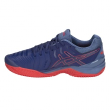 Asics Gel Resolution 7 Clay blau/rot Tennisschuhe Herren