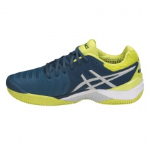 Asics Gel Resolution 7 Clay 2018 blau/gelb Tennisschuhe Herren