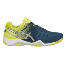 Asics Gel Resolution 7 Clay blau/gelb Tennisschuhe Herren