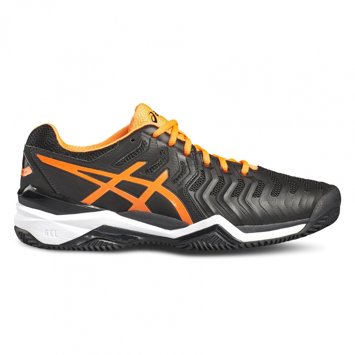 Asics Gel Resolution 7 Clay schwarzorange Tennisschuhe