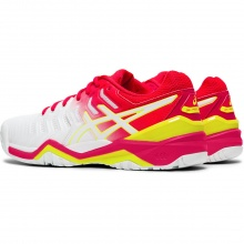 Asics Gel Resolution 7 Allcourt weiss/pink Tennisschuhe Damen