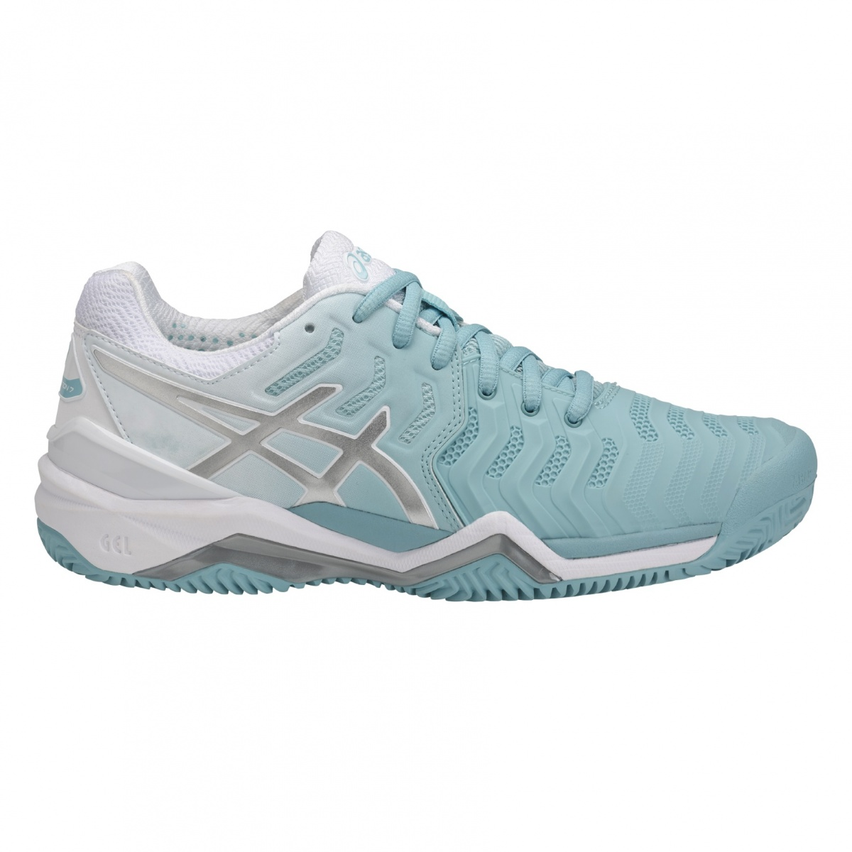 Asics Gel Resolution 7 Clay 2018 mint/weiss Tennisschuhe Damen ...