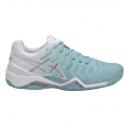 Asics Gel Resolution 7 Clay mint/weiss Sandplatz-Tennisschuhe Damen