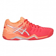 Asics Gel Resolution 7 Clay 2018 koralle/rot Tennisschuhe Damen