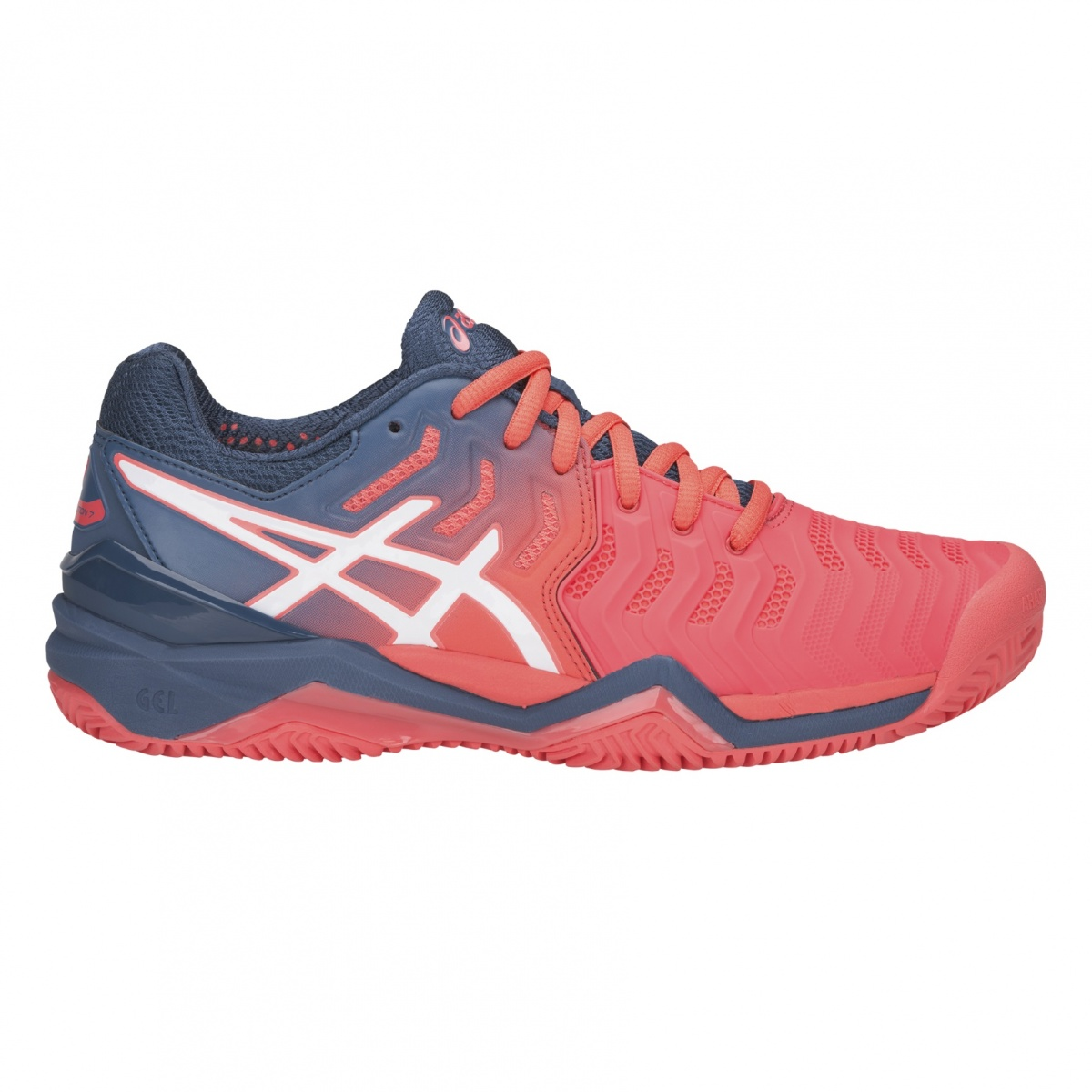 Asics Gel Resolution 7 Clay 2019 papaya Tennisschuhe Damen ...