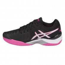 Asics Gel Resolution 7 Clay schwarz/pink Tennisschuhe Damen