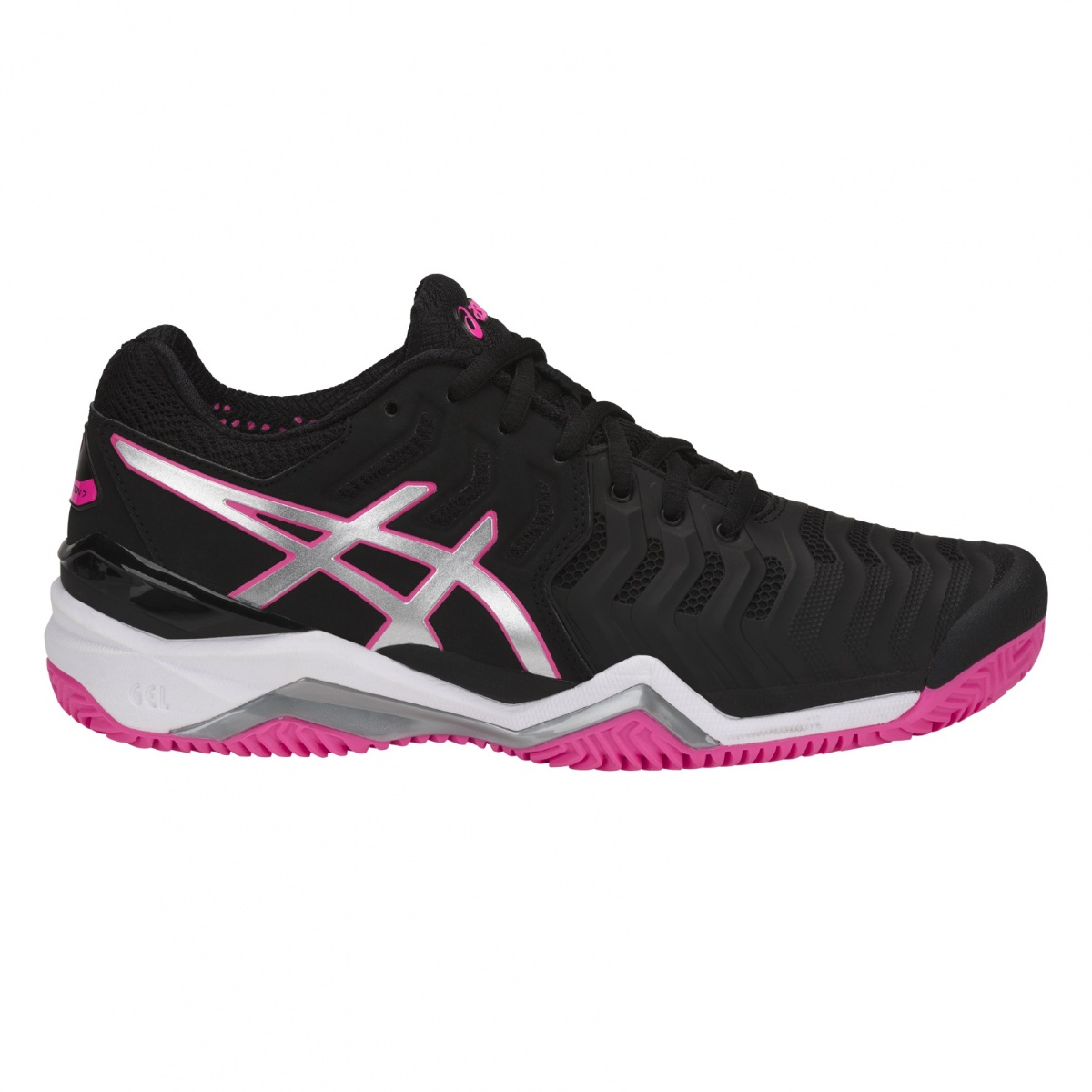 Asics Gel Resolution 7 Clay 2018 schwarz/pink Tennisschuhe ...