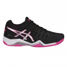 Asics Gel Resolution 7 Clay 2018 schwarz/pink Tennisschuhe Damen