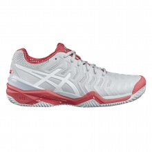 Asics Gel Resolution 7 Clay grau/rot Tennisschuhe Damen