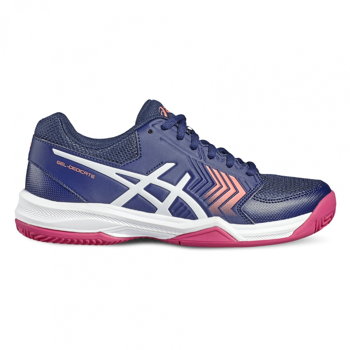 asics gel dedicate 5 clay 2017 indigo tennisschuhe damen online bestellen. Black Bedroom Furniture Sets. Home Design Ideas