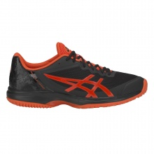 Asics Gel Court Speed Clay schwarz/rot Sandplatz-Tennisschuhe Herren