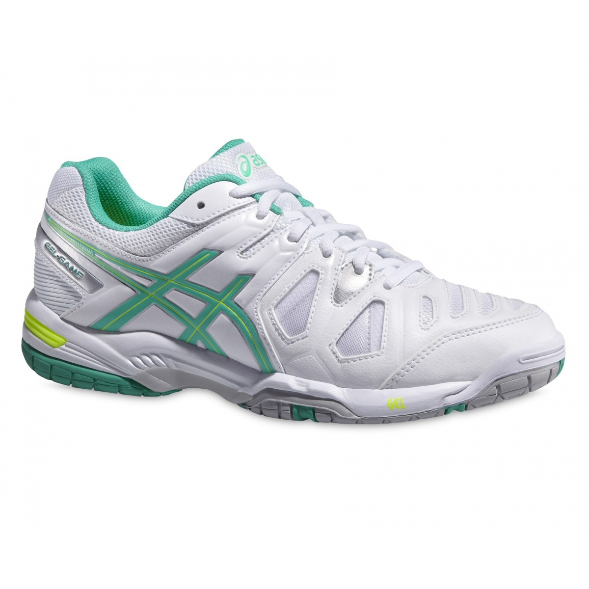 asics gel game 5 weiss mint tennisschuhe damen versandkostenfrei online bestellen. Black Bedroom Furniture Sets. Home Design Ideas