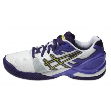 Asics Gel Resolution 5 Clay weiss/purple Tennisschuhe Damen