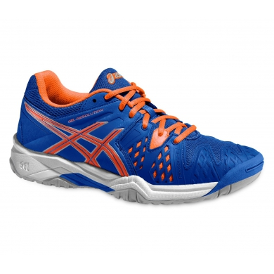 Asics Gel Resolution 6 2015 blau/orange Tennisschuhe Kinder