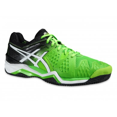Asics Gel Resolution 6 Clay 2015 grün Tennisschuhe Herren