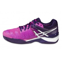 Asics Gel Resolution 6 Clay hotpink/purple Tennisschuhe Damen