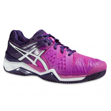 Asics Gel Resolution 6 Clay 2015 hotpink/purple Tennisschuhe Damen (Größe 42,5+4