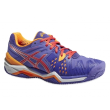 Asics Gel Resolution 6 Clay 2015 lavender Tennisschuhe Damen