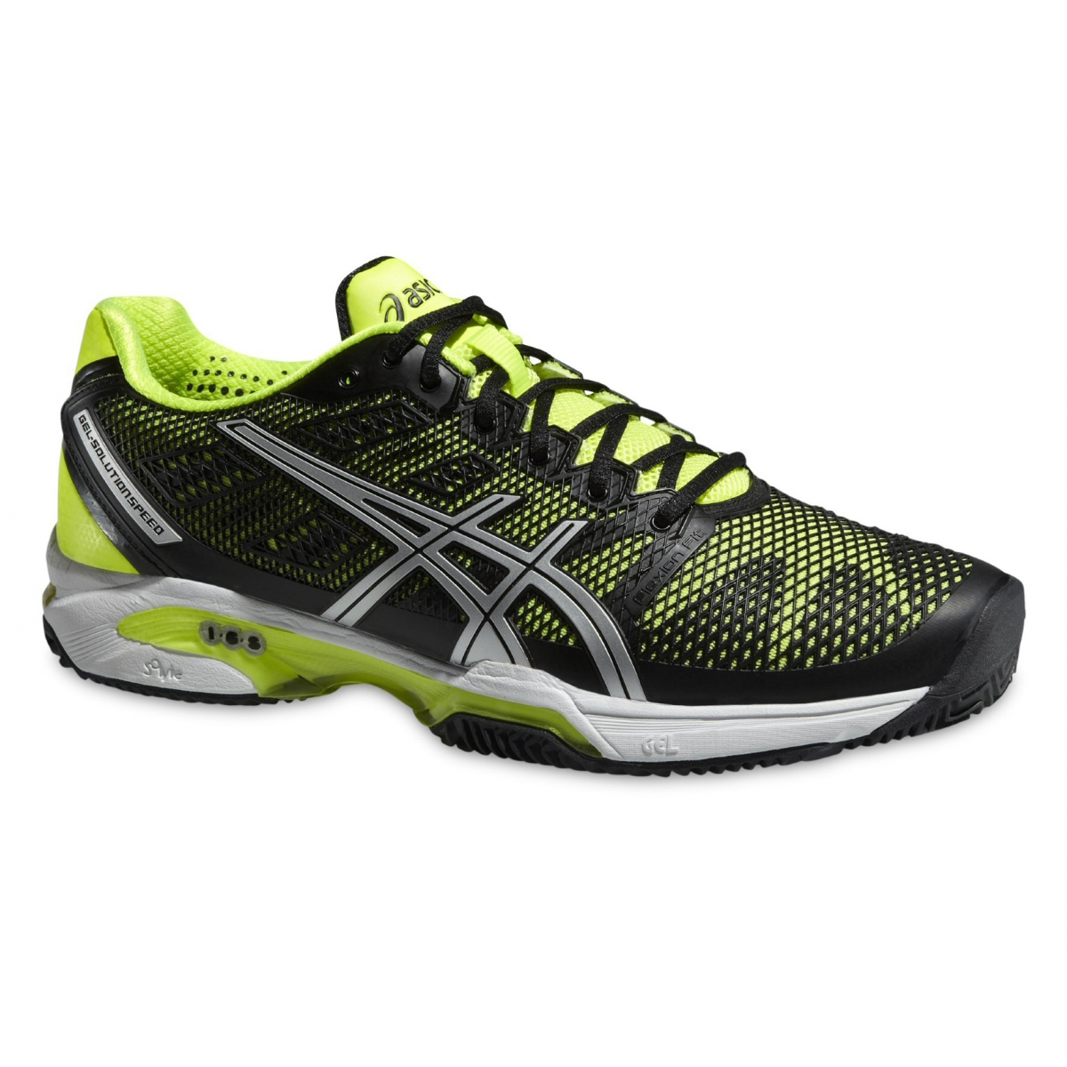 brand new 68a37 89227 Asics Gel Solution Speed 2 Clay schwarz/gelb Tennisschuhe ...