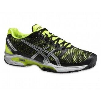 Asics Gel Solution Speed 2 Clay 2015 schwarz/gelb Tennisschuhe Herren (Größe 46,